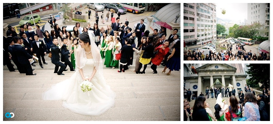 39 Throwing the Bouquet chinese style St Margarets church Hong Kong