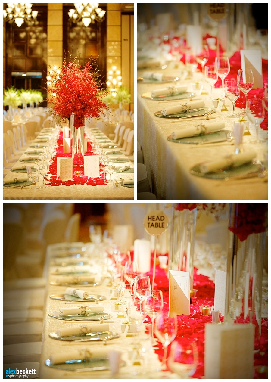 49 Wedding table decorations at the Four Seasons Hong Kong