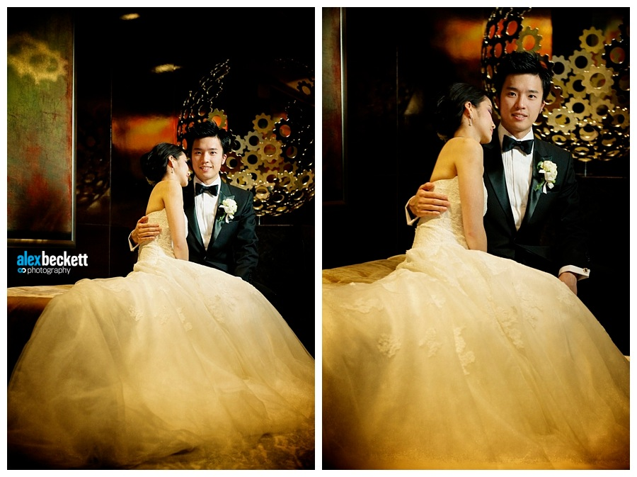 55 Bride and groom relax during their wedding at the Four Seasons Hong Kong