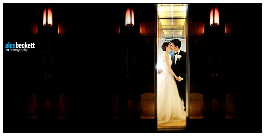 aaaa Bride and Groom at the Four Seasons Hotel Hong Kong on their wedding day