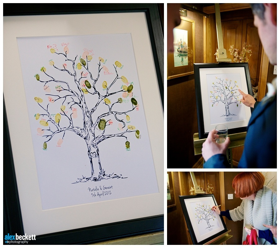 29 Wedding finger print tree guestbook