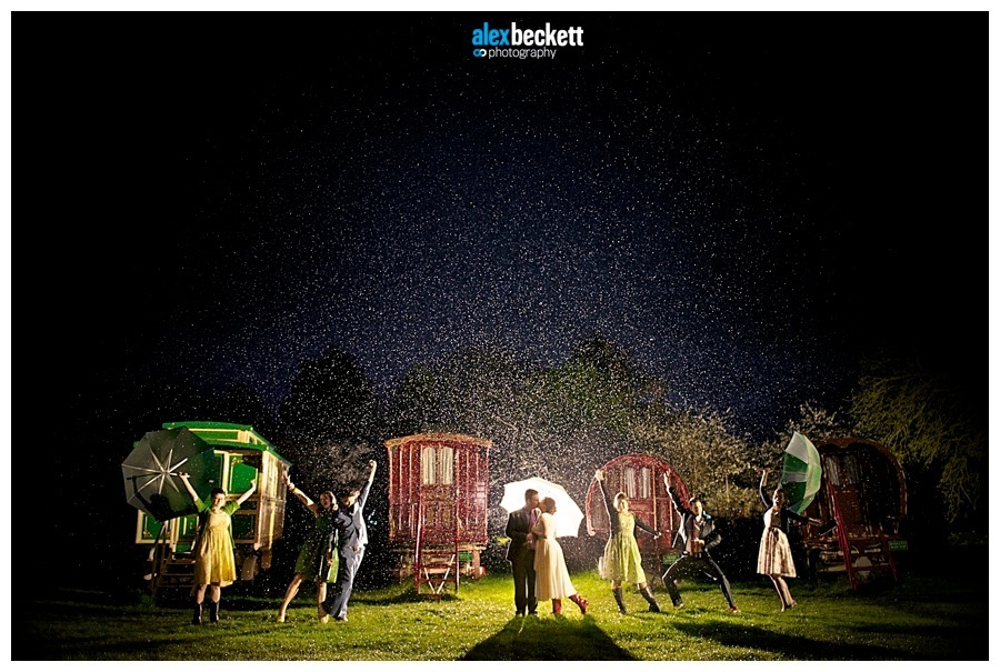 55 Wedding Bridal party photos in the rain Bride groom south farm