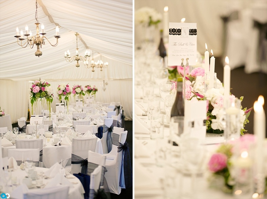 10 Black and white theme wedding marquee