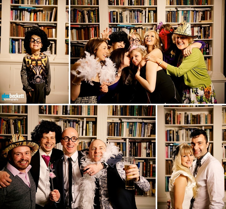 24 Wedding Library Crazybooth at anstey hall