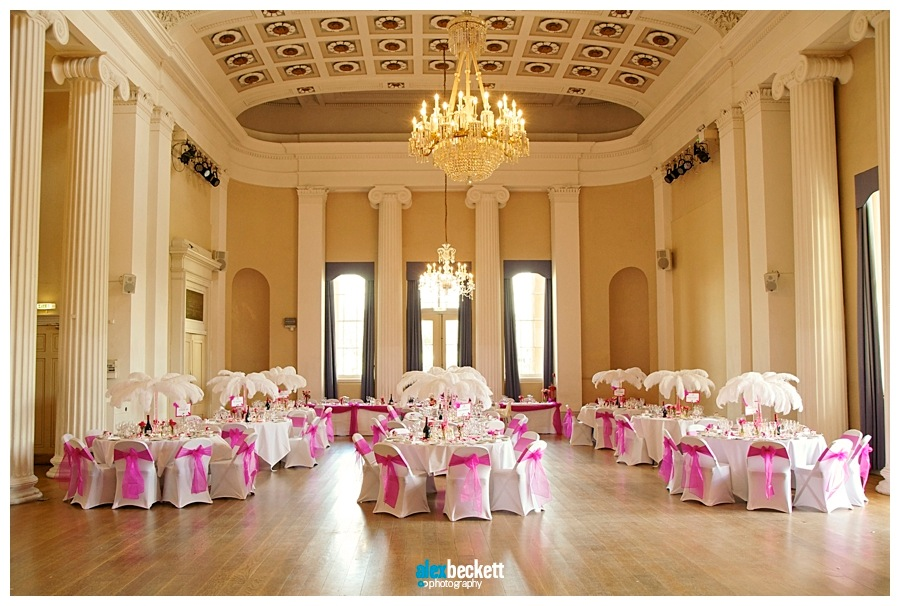 25 Pittville Pump Rooms Cheltenham Wedding table layout decoration
