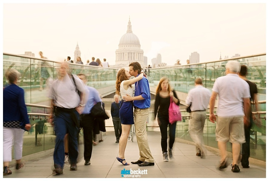 8 Millenium Foot bridge st pauls engagement wedding