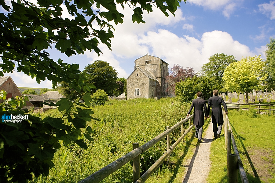 15 wedding at St Nicholas Church studland dorset