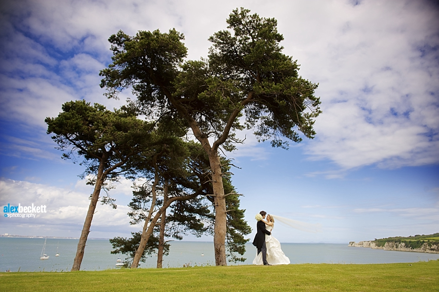 31 bride and groom on their wedding day at harry warren house studland dorset