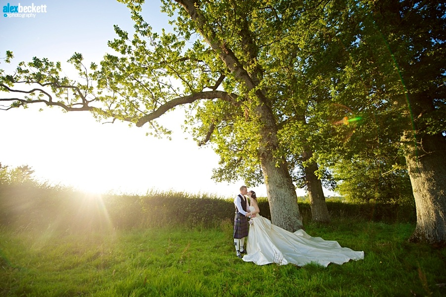 1. Stockbridge Farm Barn Dorset wedding Sherbourne bride and groom in the sun