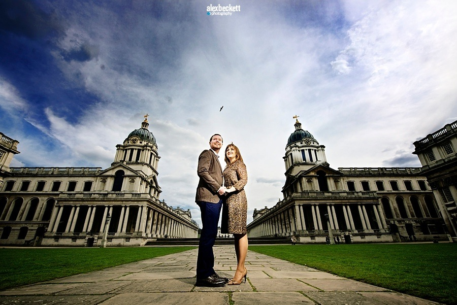 014 Alex Beckett Pre wedding shoot Old Royal Naval College Greenwich London
