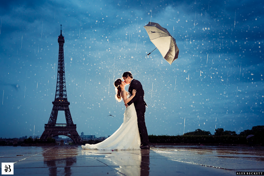 The Eiffle Tower in the Rain, Pre-wedding