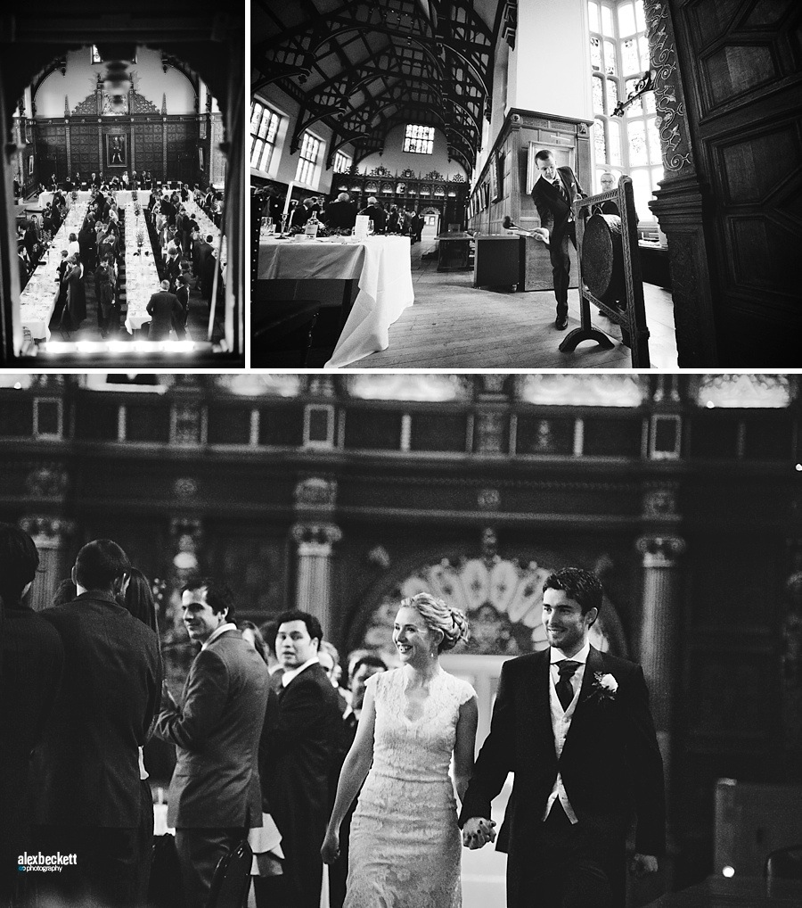 Formal hall wedding at Trinity College Cambridge
