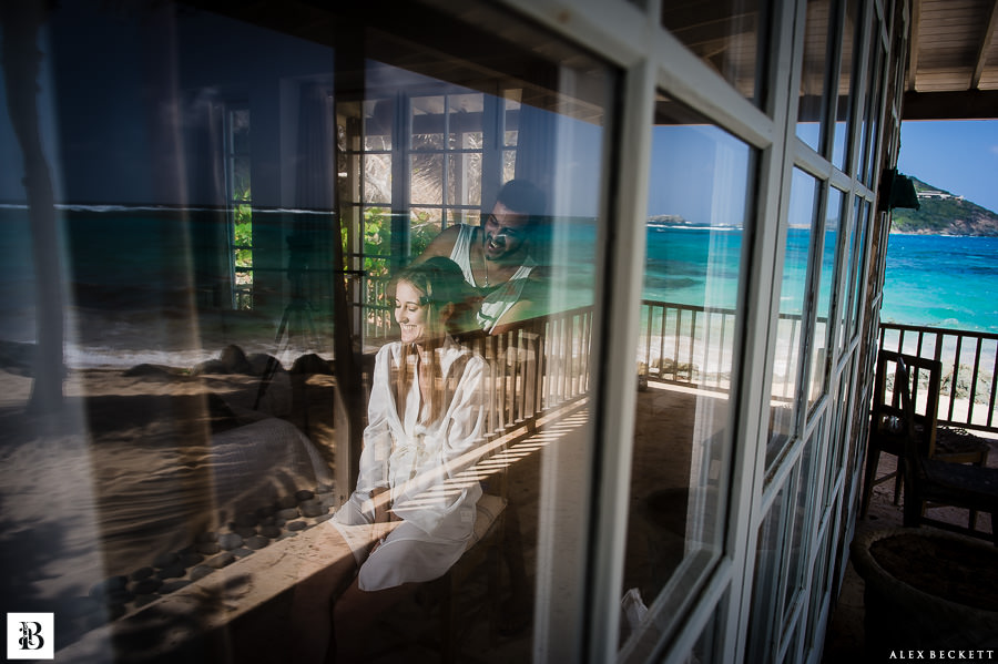 AlexBeckett-25 Bridal wedding prep caribbean sea beach Destination Wedding Photographer