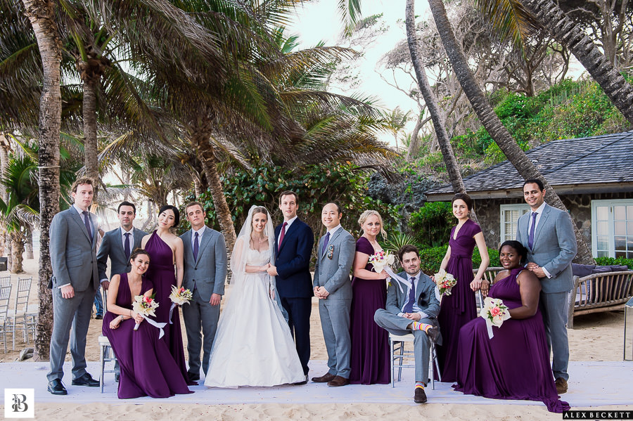AlexBeckett-92 Wedding Bridal Party Beach Mustique Caribbean Sunrise house destination wedding photographer