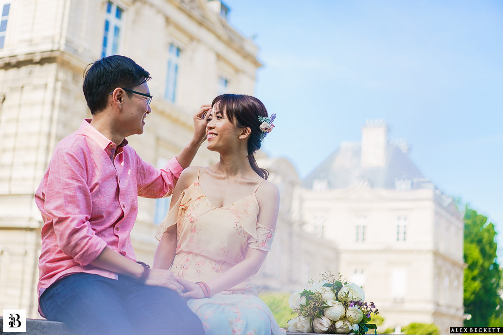 jardin de luxembourg pre-wedding Paris