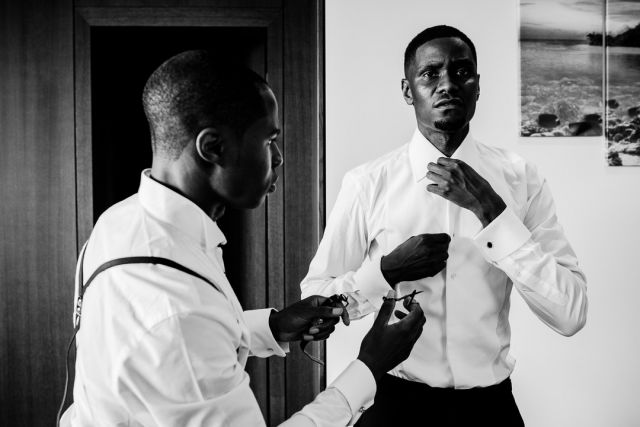 I love the way you can see the emotion and commitment in his eyes even as he does the prep. An amazing wedding at the Four Seasons, Mayfair. @fslondon  #groomportrait #thisisreportage #groomsparty #fslondon #fearlessphotographers #londonwedding #inthemoment #sony