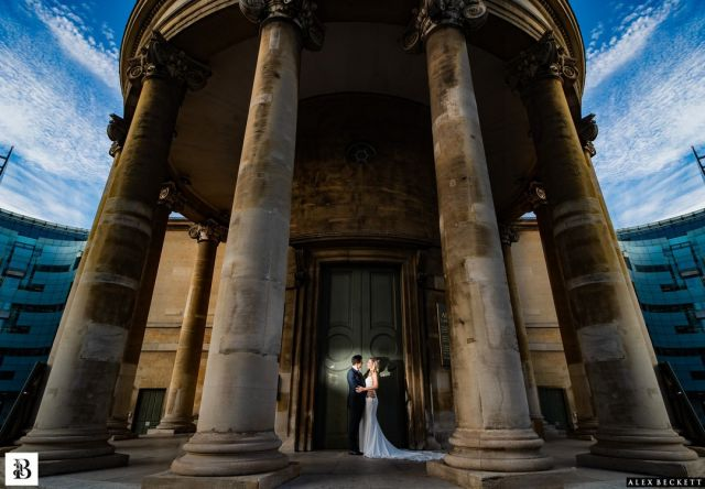 Sneaking a quiet moment together at one of the epic locations close to this brilliant wedding at @Langham_London   @ Emmasophia_1 #londonwedding #langhamhotelwedding #langhamwedding #brideandgroom #couplephotography #coupleportrait #sophisticatedwedding #citywedding #sony
